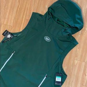Nike NFL On Field Jets Hooded Vest XXL Green NWT